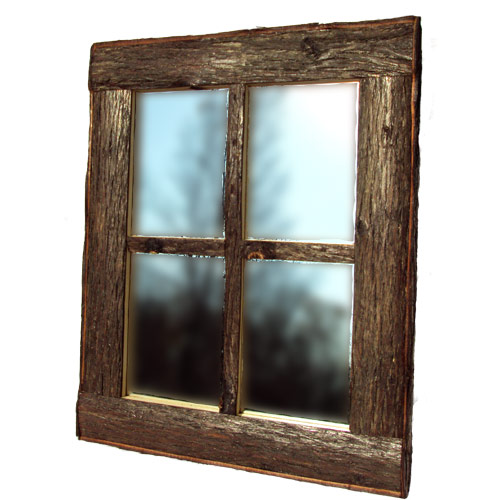 Rustic home decor with our rustic window pane mirror for Mirror window wall decor