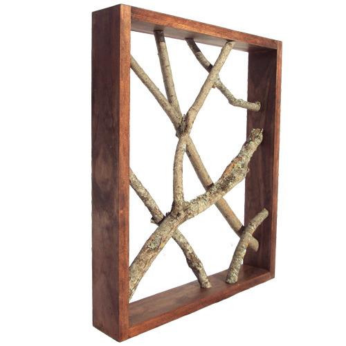Rustic Tree Wall Decor : Rustic wall art decor with framed tree branches